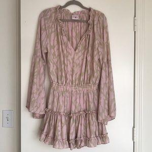 Bella Bella cute pink/nude print dress